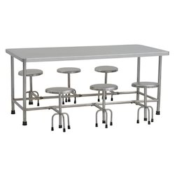 Elegant Stainless Steel Dining Table