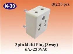 K-30 3 Way 3 Pin Multi Plug