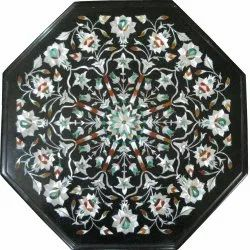 Octagonal Marble Inlay Table Top, Inlay Table Top