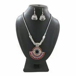 Meena Pendant Necklace Set