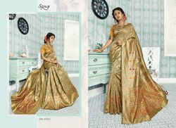 Fancy Maroon Plain Designer Saree