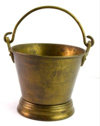 Vintage Old Collectible Beautiful Indian Brass Bucket Kitchen decor. G66-477