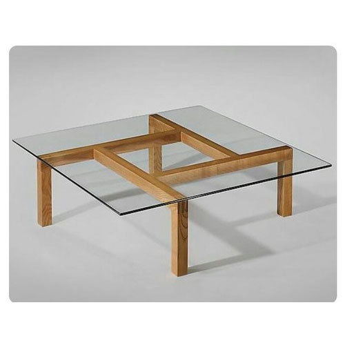 Wooden Coffee Table With Gl