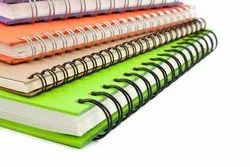 Paper Printing Spiral Book Binding Service, in Local, Dimension / Size: A4