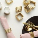 Home Arts Metal Gold Napkin Ring at Best Price