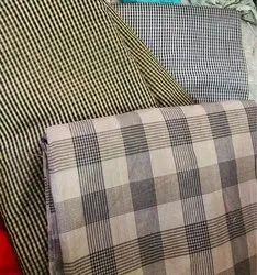 Cotton Chanderi Check Fabric