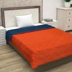 Single Bed Solid Color Reversible Comforters