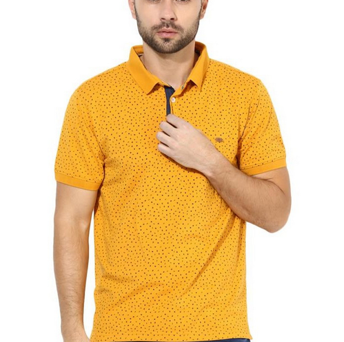 399bf8723 Crimsoune Club Yellow Polo Neck Printed T Shirt at Rs 879 /piece ...