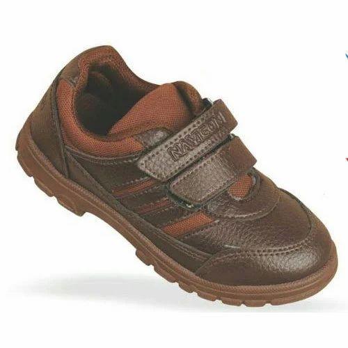 PVC Daily wear Brown Gola Kids Shoes