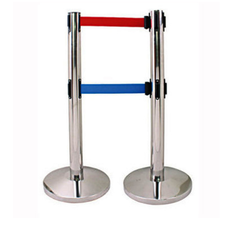 Double Retractable Belt Queue Manager