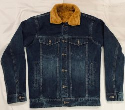 Full Sleeves Men Denim Fur Jacket