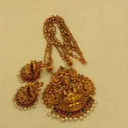 Matte Finish Traditional Temple Jewellery Set - Dno10