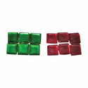 Red And Green Tanjore Painting Stone, Size: 3 X 3 Mm