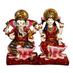 Pushpam Arts Resin Laxmi Ganesh Statue