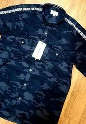 Cotton Casual Wear Mens Printed Shirt