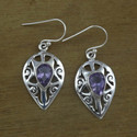 Amethyst Gemstone Jewelry 925 Sterling Silver Earring