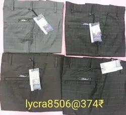 Button Mens Regular Fit Lycra Trouser, Size: 28-36 Inch