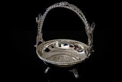 Silver Plated Flower Basket