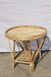 Cane Round Bamboo Table, For Home