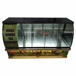 不锈钢餐厅Chai-Patti柜台c弯玻璃,商业