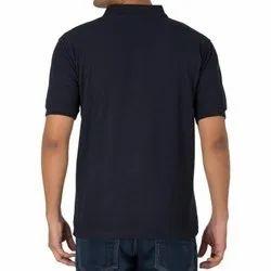 Collar Neck Half Sleeve Mens Plain Corporate Cotton T Shirt, Size: M-XXL, Packaging Type: Packet