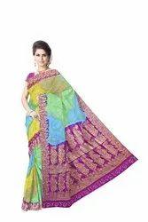 Multi Color Dupion Silk Bandhani Saree