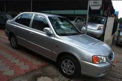 Silver Hyundai Accent Car