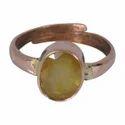 Yellow Sapphire ( Pukhraj ) Gemstone Ring