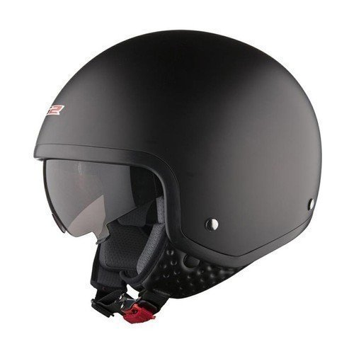 Black Open Face Helmet, Size: L And XL