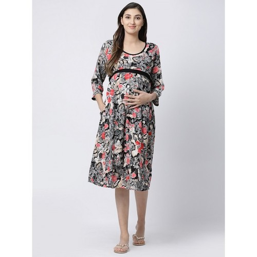 c36ba90af594e Blue L Rayon Fabric Maternity Gown, Size: M - XXL, Rs 1300 /piece ...