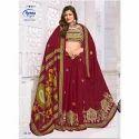 Meena Printed 4130 Ladies Cotton Party Wear Saree, 5.5 M (separate Blouse Piece)