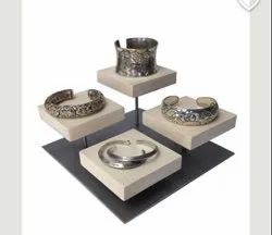 4 Wooden Stand Bracelet Display