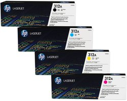 HP 312a (Cf380/1/2/3a) Original Black And Colour Toner Cartridge Set
