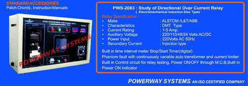 Directional Over Current Relay Testing Electromechanical - Powerway