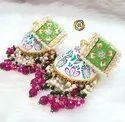 CL Jewellery Handpainting Kundan Onex Agate Beads Wedding Jhumkas By Its_Craftlife