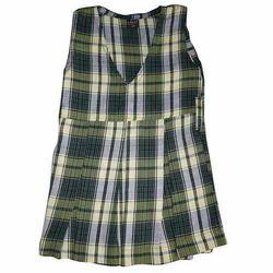 Girls Checked School Uniform Frock