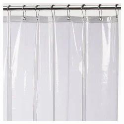 Printed Or Plain White Plastic Shower Curtain