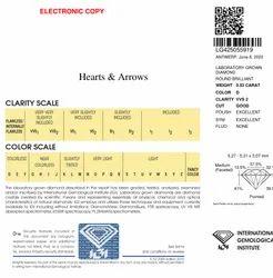0.53ct IGI Certified Diamond HPHT D VVS2 Round Brilliant Cut Type2