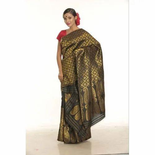 Printed Banarasi Assamese Mekhela Sador, Packaging Type: Plastic Bag