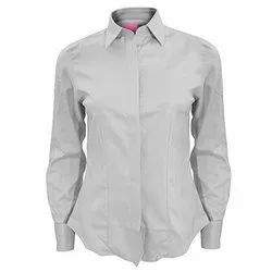 Full Sleeve Cotton Ladies Formal Shirt