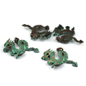 Dragon Brass Patina Charms