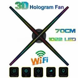 Speed 3D Hologram Fan Advertising Display LED Fan 70CM 4 Blades, 1022 LED , 1024x1024 Resolution