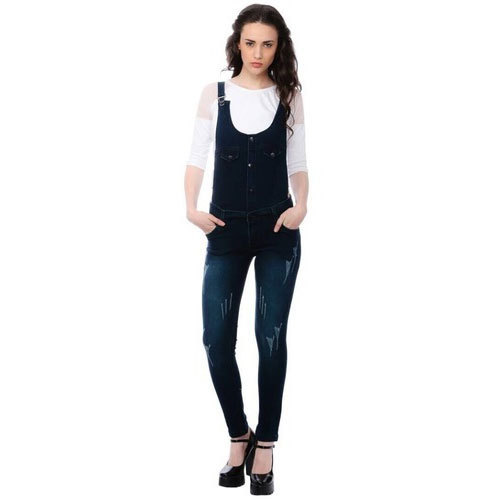 068092e8a5b Denim Dark Blue Plain Dungarees