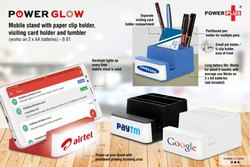 B81  Powerglow Mobile Stand With Paper Clip Holder Visiting Card Holder