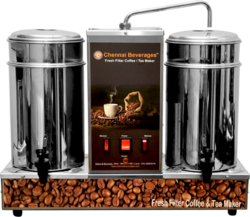Semi-Automatic 4 Option Tea And Coffee Machines