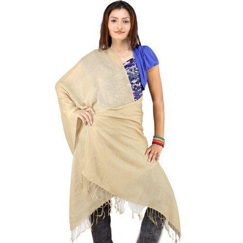 fcdf545020 Beige Fabulous Kashmiri Wool Stole Kashmiri Warm Woolen Scarf Stole 109