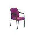Purple Metal Visitor Chair
