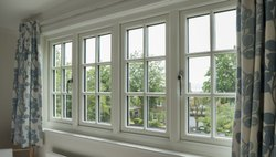 sliding and fixed offwhite Upvc Windows, for Commercial