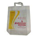 White Printed Non Woven Handle Bag