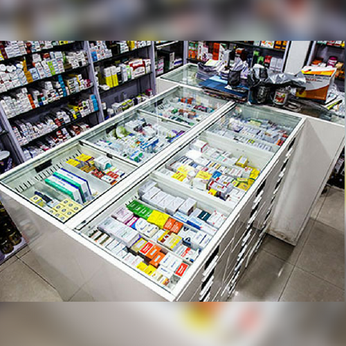 Pharmacy Fixtures and Shelving - Medicine Glass Cabinets for